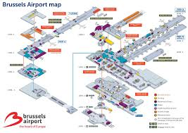 brussels airport map