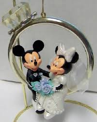 disney mickey groom minnie wedding ring ornament new