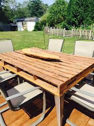 Diy Wood Pallet Outdoor Furniture by Diy Outdoor Pallet Patio Table Pallet Furniture