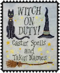 feeling witchy witch inspired cross stitch patterns
