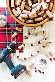 diy wine cork garland cambria winery