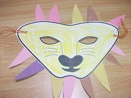 lion mask craft lion mask paper craft preschool education for kids