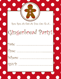 Invitation For Cards Party Free Gingerbread Party Invitation Schoolgirlstyle