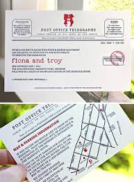 Telegram Wedding Invitation Silhouette Telegram Letterpress Wedding Invitations