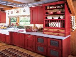 red kitchen accents red and yellow country kitchens red country