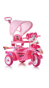 tricycle cartoon buy toyhouse cartoon pink baby tricycle scooty style with push