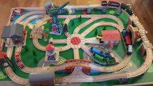 thomas the train wooden table wooden railway track layout designed by my husband we used a big