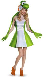 super mario bros yoshi womens costume for adults yoshi super