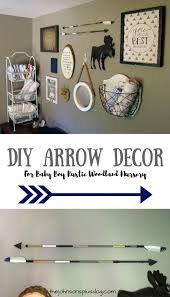 diy arrow decor for baby boy rustic woodland nursery