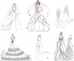 drawn wedding dress formal dress pencil and in color drawn