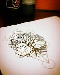 thigh tattoo sketches geometric tree of life tattoo design yggdrasil tattoo