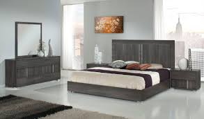 Modern Bed Set Furniture Modrest Luca Italian Modern Grey Bedroom Set