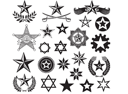 tribal star tattoos graphic real photo pictures images and