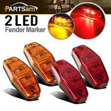 side marker light lens amazon com partsam 2 amber 2 red 2 54x1 06 side marker light