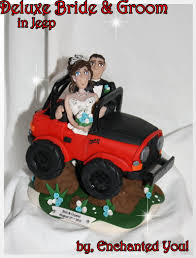 jeep logo cake deluxe jeep wedding cake topper