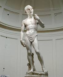 statue of david with gollum head pictures freaking news