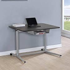 Computer Desk In Black Amazon Com Height Adjustable Standing Desk Coaster Adjustable
