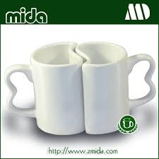 Heart Shaped Mugs Mida Ceramic Lover Mugs Heart Shaped Handle Sublimation Mugs