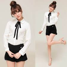 bebe blouses sale ruffle blouse fromal chic shirts bowknot baby collar
