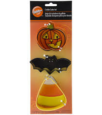 Bat Biscuits For Halloween by Cookie Cutters 3 Pkg Bat Jack O Lantern And Candy Corn Joann