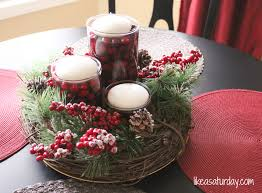 table handmade christmas centerpieces centerpiece ideas with pretty handmade christmas centerpieces table like a saturday winter centerpiece diy decorations home decor inexpensive pinterest