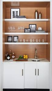 modern wet bar stained wood barn calcutta marble modern