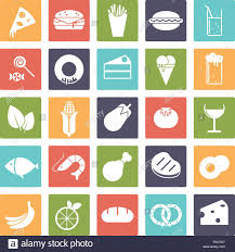 drink vector food and drink vector icons negative in colored squares stock
