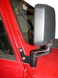 jeep wrangler door mirrors mirror relocation brackets for yj wranglers and jeep cj models