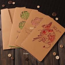 usd 10 00 korea creative greeting card hollow kraft paper