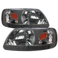 2001 Ford F150 Tail Lights Ford F150 1997 2003 Smoked One Piece Headlights A137kxoo102