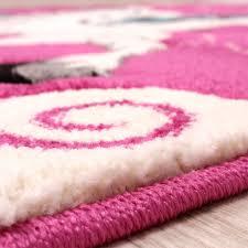 teppich kinderzimmer kinderteppich einhorn pink kinder teppiche