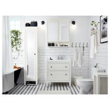 Ikea Bathroom Mirrors Uk Hemnes High Cabinet With Mirror Door White 49x31x200 Cm Ikea