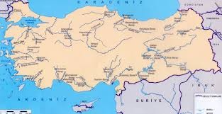 River Map Turkey Rivers Map