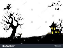 vector illustration halloween silhouette background stock vector
