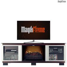 Electric Fireplace Insert Zeus Cocoa Media Center Electric Fireplace Wall Mantel Tv Stand W