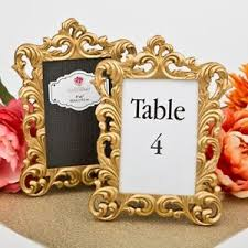gold wedding table numbers 22 baroque gold wedding reception bridal shower table number frame