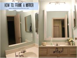diy bathroom mirror frame 98 enchanting ideas with how to frame a