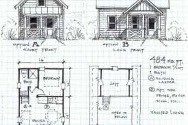 20 cottage home with loft blueprint small log cabin homes floor