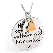 Engraved Necklaces For Her Amazon Com Yfn 925 Sterling Silver Mom Child U0027s Love Family