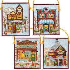 dimensions winter ornaments counted cross stitch