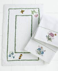 Bathroom Rugs And Accessories Lenox Bath Accessories Butterfly Meadow Bath Rug Bath Rugs