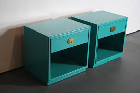 Painted Mid Century Furniture by Set Of Two Mid Century Modern Drexel End Tables Custom Painted In