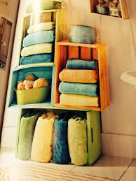 bathroom catchy colorful cubics bathroom towel storage using wood