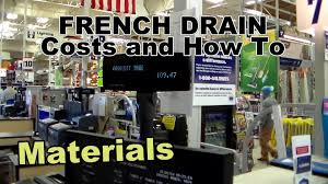 french drain cost and how to complete install youtube