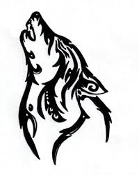 tribal howling wolf by silent howl on deviantart