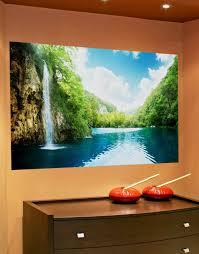 waterfall murals for walls forest wall murals stickerbrand waterfall in deep forest wall mural 6023