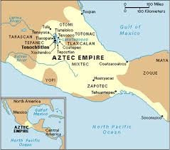 mayan empire map map of aztec empire my