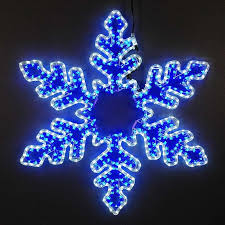 snowflake led lights outdoor with 36 led rope light cool white