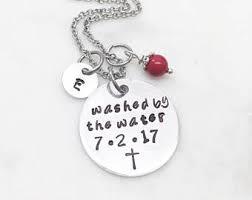 baptism necklace baptism jewelry etsy