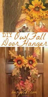 thanksgiving diy projects diy owl fall door hanger fall door hangers fun diy and fall decor